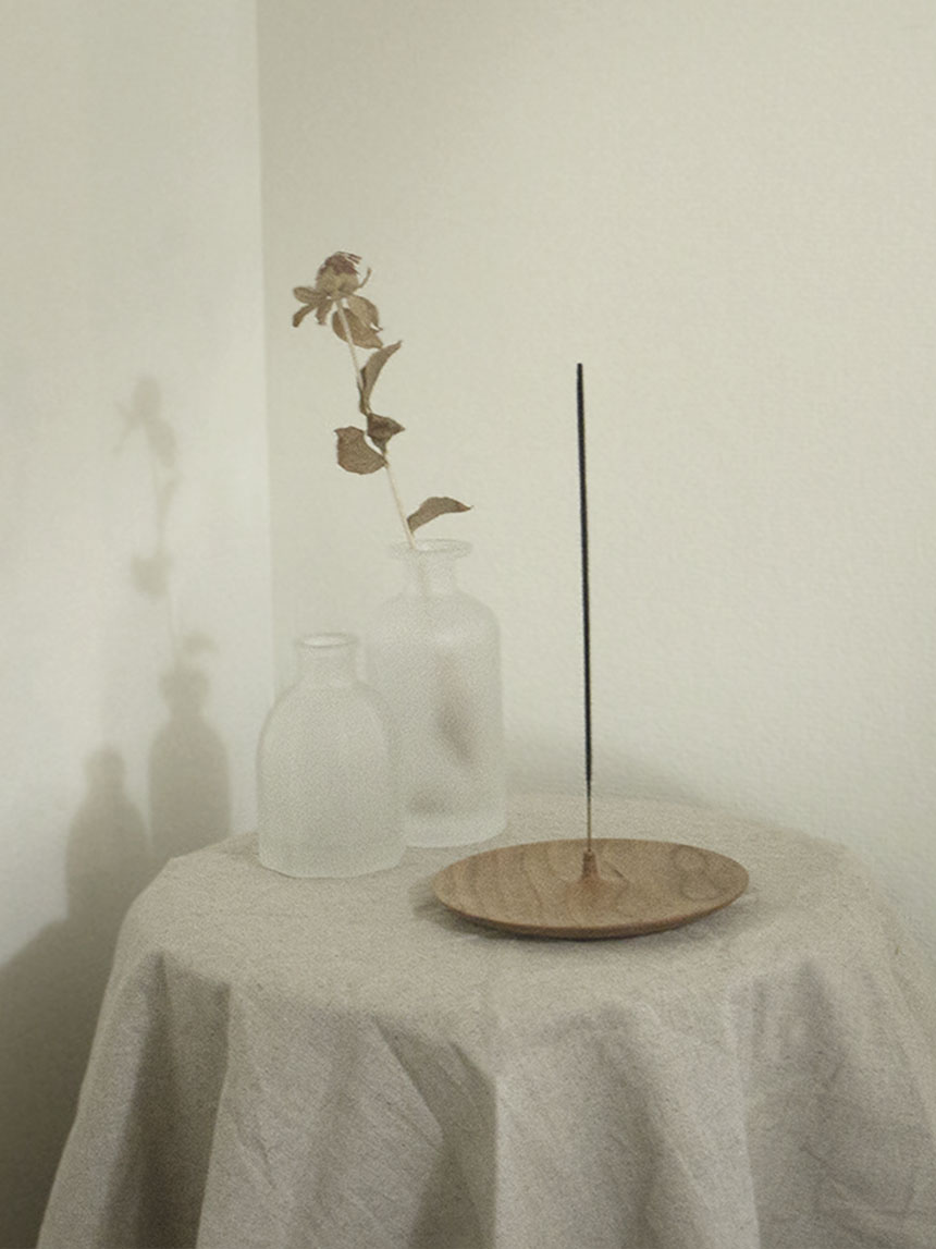 incense holder_maple wood