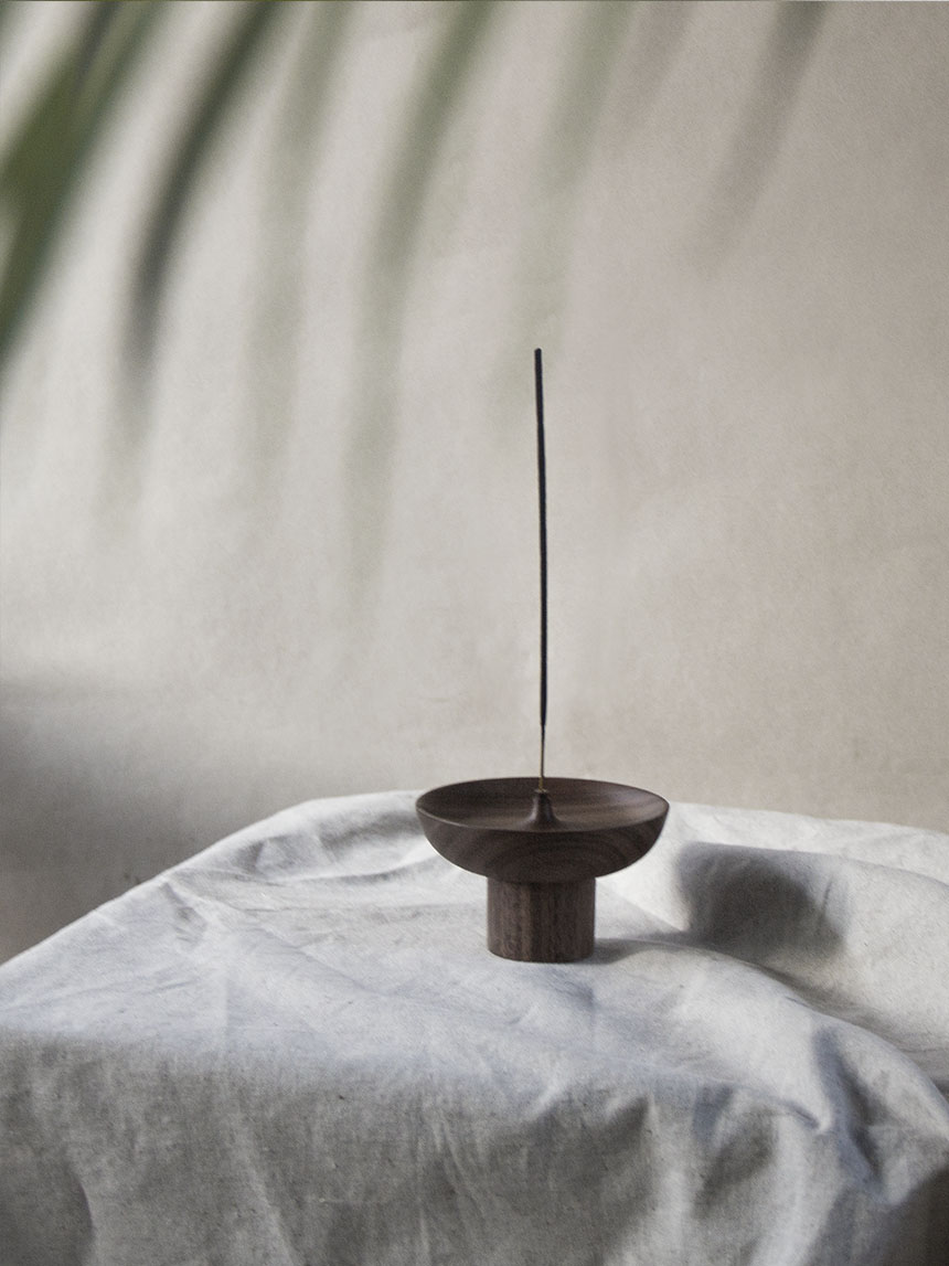 incense holder_walnut wood IH003