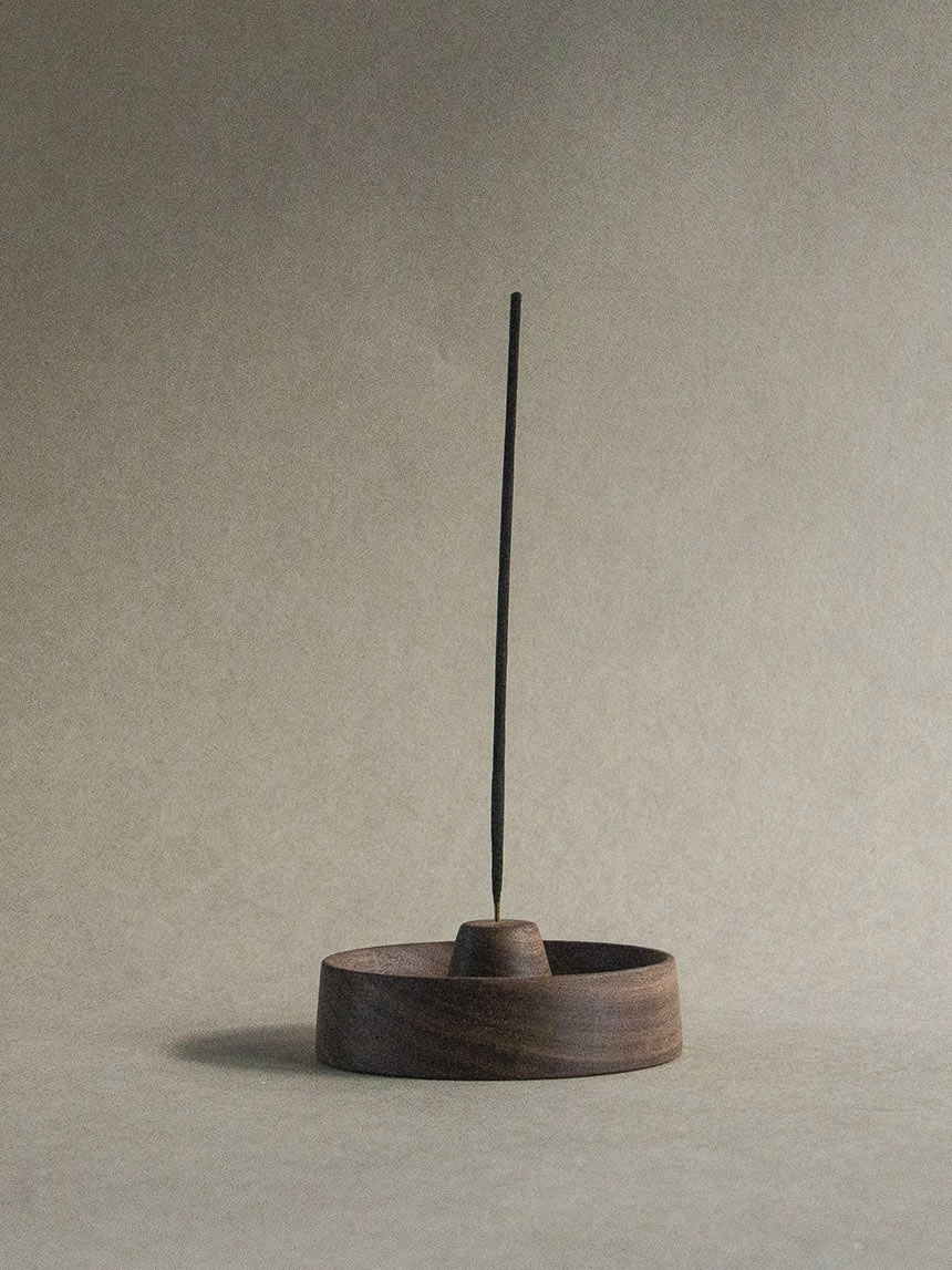 incense holder_walnut wood