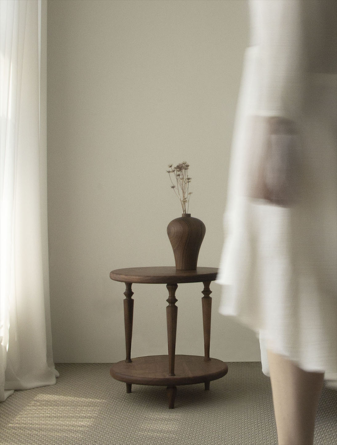 wood sidetable_ST003